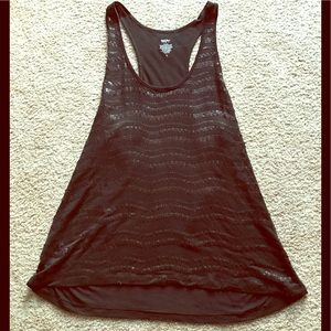 Black sequined top. Size L.